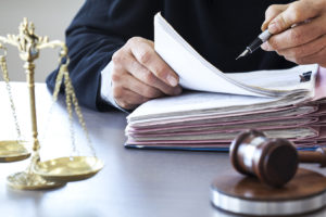 dui attorney looks over client cases