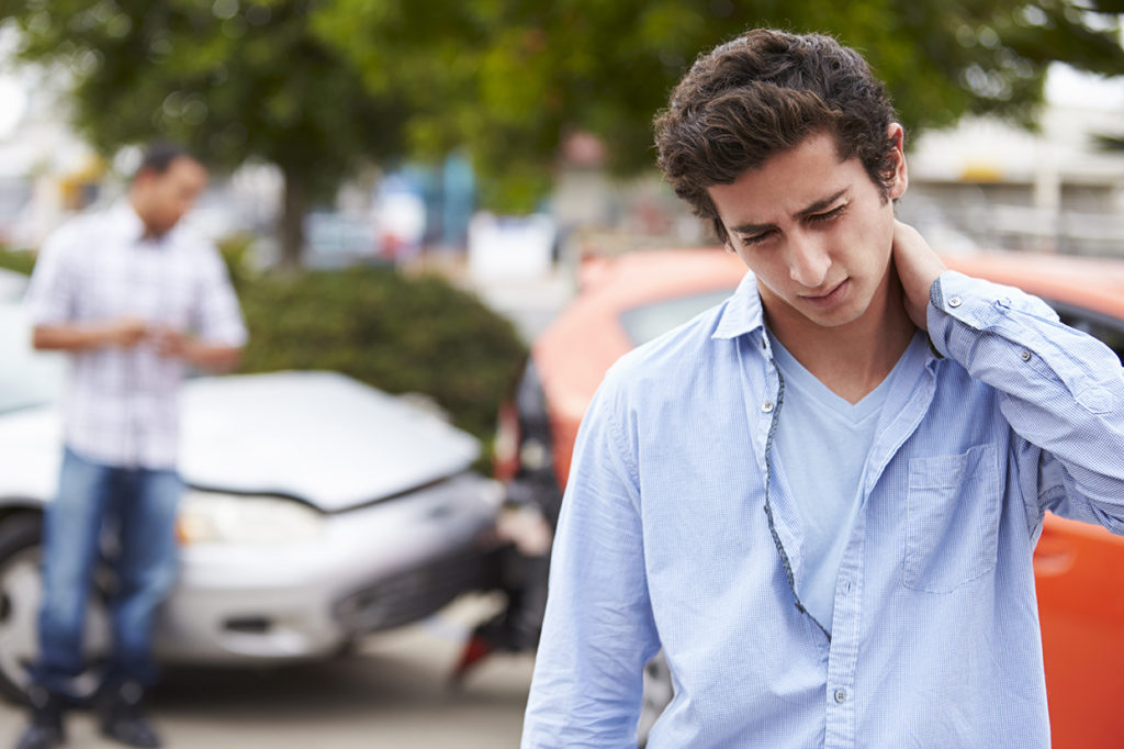 young male driver needs accident attorney