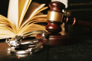 Gavel, Handcuffs and Book